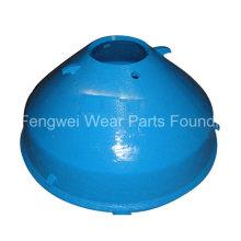 Pièces de concasseur de cône OEM Manteau en manganèse en acier et doublure en cuvette