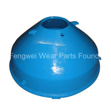 OEM Cone Crusher Parts High Manganese Steel Casting Mantle and Bowl Liner