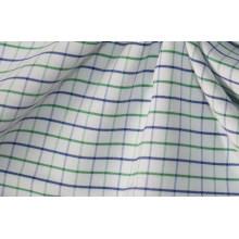 Verde/Marina de guerra delgado comprueba el hilado teñió la tela Shirting