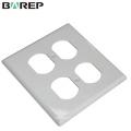 Placa de cubierta del interruptor de luz GFCI material de policarbonato de alta calidad