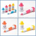 produtos de novidade de 2015 para importação plástico flexível sorriso bonito rosto caneta esferográfica