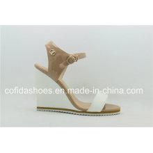 Sandale à talons femme à manches longues avec design simple