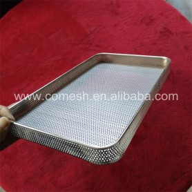 Stainless Steel Punched Metal Mesh Tray