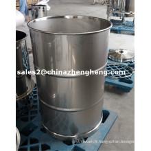 Tambour à tambour et en acier inoxydable 220L en acier inoxydable