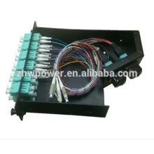 12 Boîte de distribution 24, boîte à bornes à fibres optiques, boîte à épissure optique avec cordon de raccordement mpo