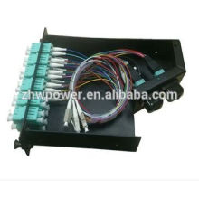 12 24 core distribution box,fiber optic terminal box,optical splicing box with mpo patch cord