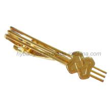 Ouro chapeado liga Tie clip Clip de laço de bronze (GZHY-LDJ-001)