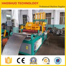 Máquina de fabricación de aletas acanaladas para el uso de tanques de transformadores