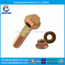 Color Zinc Plated Hex Flange Bolt with nuts