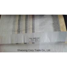 Nouveau tissu décoratif de rideau Organza Voiture à rayures de projet populaire 0082131