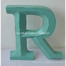 Nouvelles lettres artisanales en bois utilisées pour la décoration intérieure