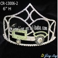 6 Inch custom rhinestone car tractor pageant crowns for kids