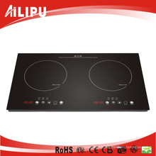 Whole Crystal Plate Plastic Housing Multi-Function Double Zone Induction Cooker 4kw