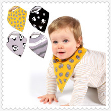 100% cotton lovely baby drool triangle shape baby bib