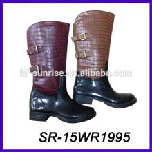 Sexy regen boot frauen regen boot wasserdicht pvc boot