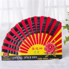 60 Stücke Karte verpackt Shenghua Schwarz Metall Haar Griffe (JE1043)