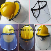 Face Shield with Safety Helmet, PVC Face Shield Visor, PC Face Shield Visor, PC Green Faceshield Visor