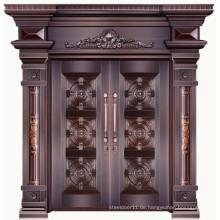 Gute Qualität Luxus 100% echte Kupfer Villen Außentür Designs