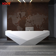 Fashionable cool curving reception desk table counter furniture