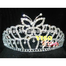 fashion beautiful butterfly crystal hair accessory tiara