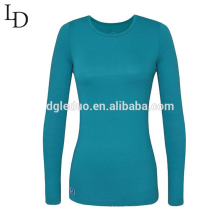 Wholesale cheap plain sexy tight long sleeve women t shirt