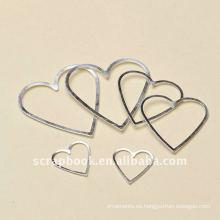 sostenedor de la etiqueta de la forma de aluminio marco corazón