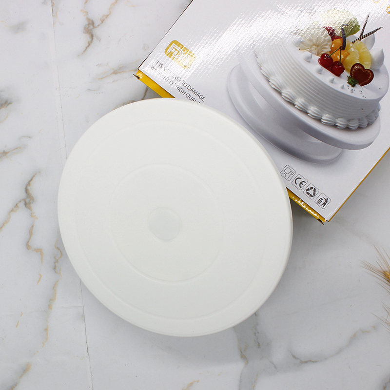 Revolving Plastic Cake Stand with Non-Slip Base (2)