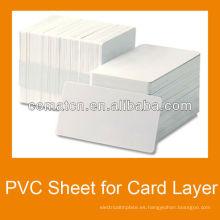 Hoja del PVC de la capa media de la tarjeta de crédito