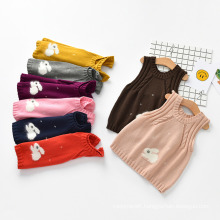 Winter Children Sweater Solid Color O-Neck Pullover Kids′ Sweater Vest