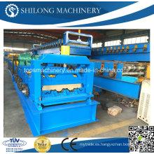 CE Aprobado Servicio a lo largo de la vida Metal de suelo Decking Roll formando la máquina con ISO