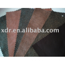 Embossed Suede knitting Fabric For fashion garment/home textile / shoes