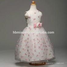 Großhandelsart und weisequalitätsweißfarben-Blumenmädchenkleid ein PC Parteiabnutzungs-Mädchen geschwollenes Parteikleid