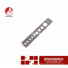 BDS-Q8611 Lockout Tagout Pneumatic Lockout Gas Safety Equipment of 8 different holes 34mm x 195mm x 0.3mmthick