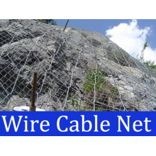 Rockfall Protección Cable Cable Red