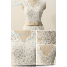 2017 V-Neck Appliques Wedding Dress Bridal Gown Latest