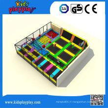 Kidsplayplay lit de trampoline en gros d'intérieur de centre de jeu d'enfants pour des adultes
