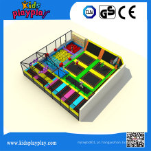 Cama por atacado interna do trampolim do centro do jogo das crianças de Kidsplayplay para adultos