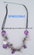 Fashion Jewelry Shell with Glass Charm Necklace (SFN033339A)