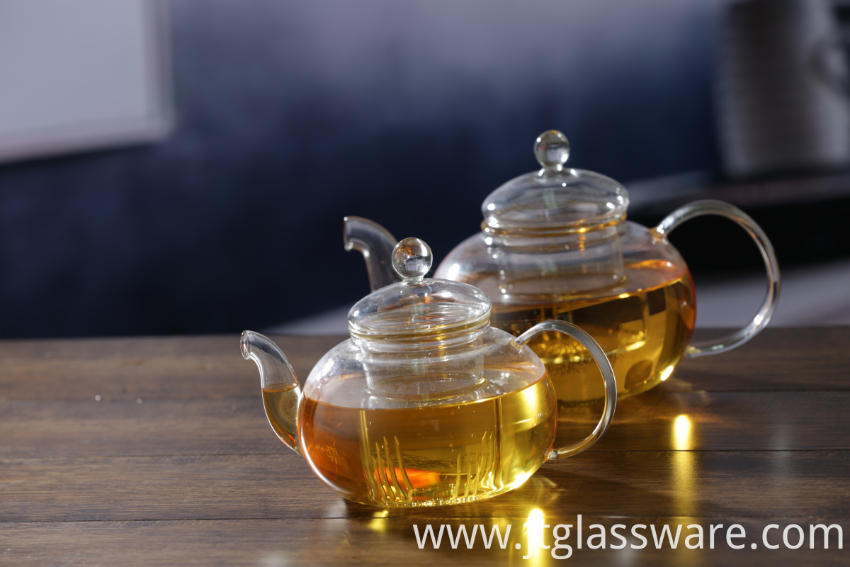 Round Glass Teapot