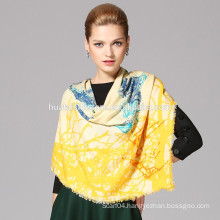 YOUR letter design wholesale wool printed wide shawl