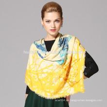 SU diseño de la letra lana al por mayor impresa el mantón ancho