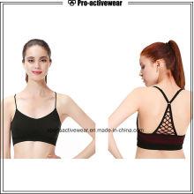 Moda Novo Chegada Mulheres Sexy Sports Bra Logo com alça