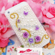 crystal beads , Colorful Rhinestone Mobile Phone Sticker