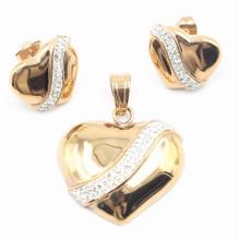Direto da fábrica venda quente moda jóias de aço inoxidável conjunto - brinco e pingente