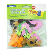 handmade craft soft Animals shaped EVA Foam Colorful Stickers de goma eva