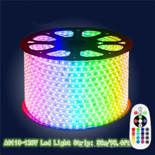 outdoor waterproof IP65 5050 RGB 110V 220V led strip lights with remote control