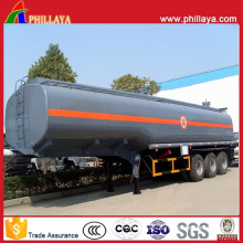 Three Axis Fuel Tanker Semi Trailer 45000 Liters Chemical Tank