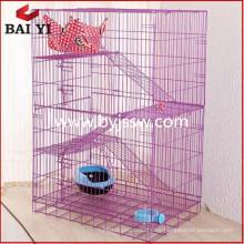 Jaula de gato / jaula de gato de gran tamaño con ruedas de mayor venta