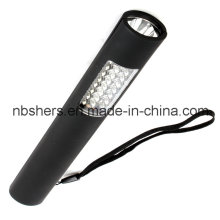 Dual-Function 24+1 LED Work Light Torch Magnetic Backside