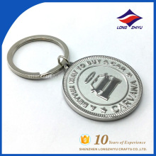 Metal round key chain car logo can custom logo keychain